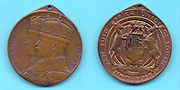 1935 King George V Jubilee medal issued in the Union of South Africa