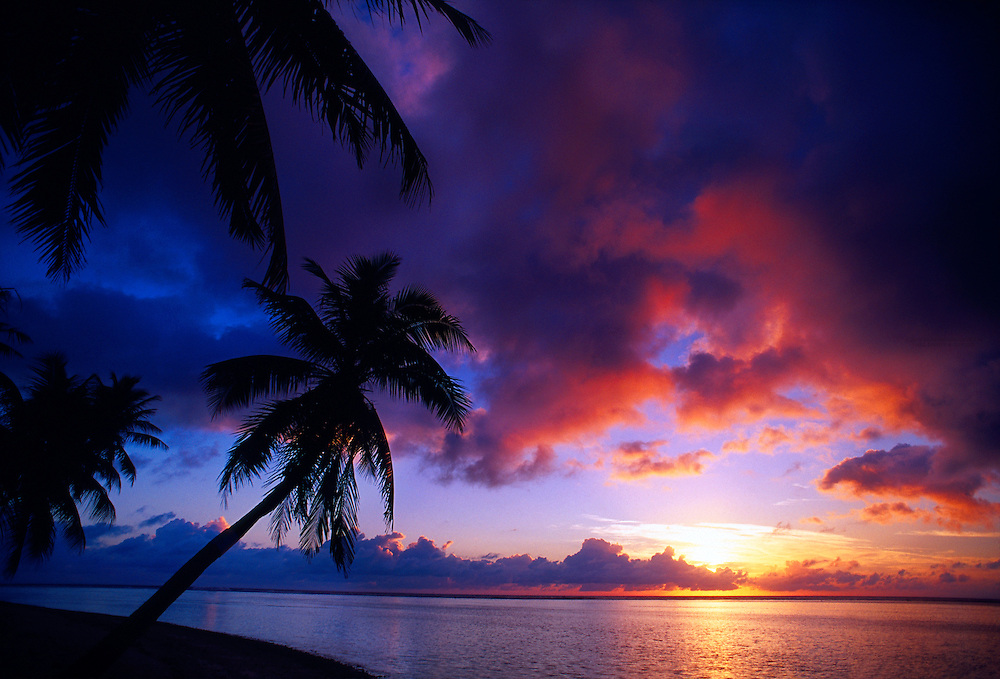 Tropical sunrise, Huahine, French Polynesia