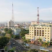 Buildings in downtown Hue, Vietnam.