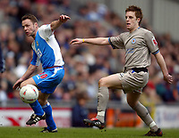 Fotball<br /> FA-cup 2005<br /> 5. runde<br /> Blackburn v Leicester<br /> 13. mars 2005<br /> Foto: Digitalsport<br /> NORWAY ONLY<br /> Paul Dickov of Blackburn and Alan Maybury of Leicester