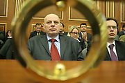 Jan 04, 2008 - Pristina, Kosovo, Serbia - Former Prime Minister AGIM CEKU, sitting in a guest chair at the Kosovo New Parliament. (Credit Image: © Vedat Xhymshiti/ZUMA Press)