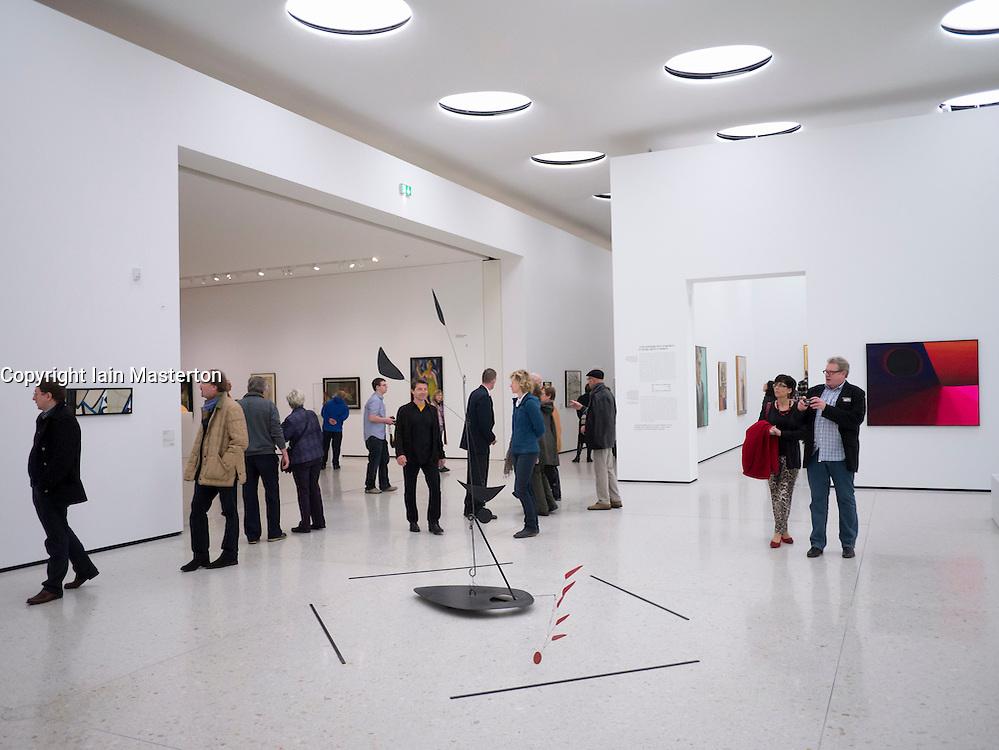 Interior of  new contemporary  art museum or GEGENWARTSKUNST at Stadel museum in Frankfurt Germany