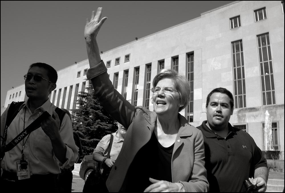 Elizabeth Warren in DC on October 4, 2018.