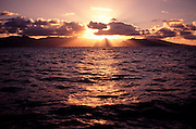 Sunset, Kaneohe Bay, Oahu, Hawaii<br />