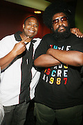 l to r: Dougie Fresh and Quest?Love at Common's Start the Show n' Bowl benefiting The Common Ground Foundation held at Hotel Sax on September 26, 2008 in Chicago, IL