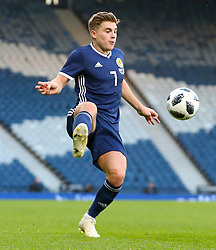 Scotland's James Forrest during the International Friendly match at Hampden Park, Glasgow. PRESS ASSOCIATION Photo. Picture date: Sunday October 14, 2018. See PA story SOCCER Scotland. Photo credit should read: Niall Carson/PA Wire. RESTRICTIONS: Use subject to restrictions. Editorial use only. Commercial use only with prior written consent of the Scottish FA. Call +44 (0)1158 447447 for further information.