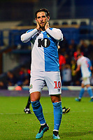 Blackburn Rovers' Danny Graham reacts to a missed chance<br /> <br /> Photographer Richard Martin-Roberts/CameraSport<br /> <br /> The Carabao Cup First Round - Tuesday 13th August 2019 - Blackburn Rovers v Oldham Athletic - Ewood Park - Blackburn<br />  <br /> World Copyright © 2019 CameraSport. All rights reserved. 43 Linden Ave. Countesthorpe. Leicester. England. LE8 5PG - Tel: +44 (0) 116 277 4147 - admin@camerasport.com - www.camerasport.com