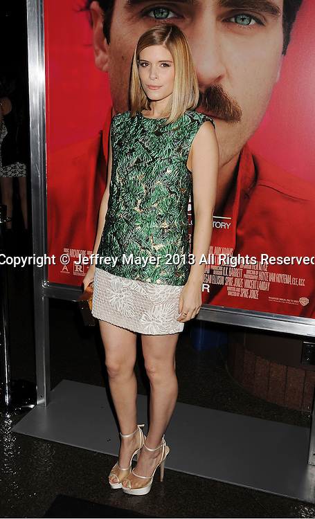 LOS ANGELES, CA- DECEMBER 12: Actress Kate Mara arrives at the 'Her' Los Angeles Premiere - Arrivals at Directors Guild Of America on December 12, 2013 in Los Angeles, California.