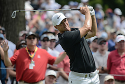August 9, 2018 - Town And Country, Missouri, U.S - ALEX NOREN from Sweden tees off on hole number 6 during round one of the 100th PGA Championship on Thursday, August 8, 2018, held at Bellerive Country Club in Town and Country, MO (Photo credit Richard Ulreich / ZUMA Press) (Credit Image: © Richard Ulreich via ZUMA Wire)