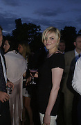 Sophie Dahl. Serpentine Gallery Summer party in a glass and steel pavilion designed by Toyo Ito and Arup. . tuesday 9 July 2002. © Copyright Photograph by Dafydd Jones 66 Stockwell Park Rd. London SW9 0DA Tel 020 7733 0108 www.dafjones.com