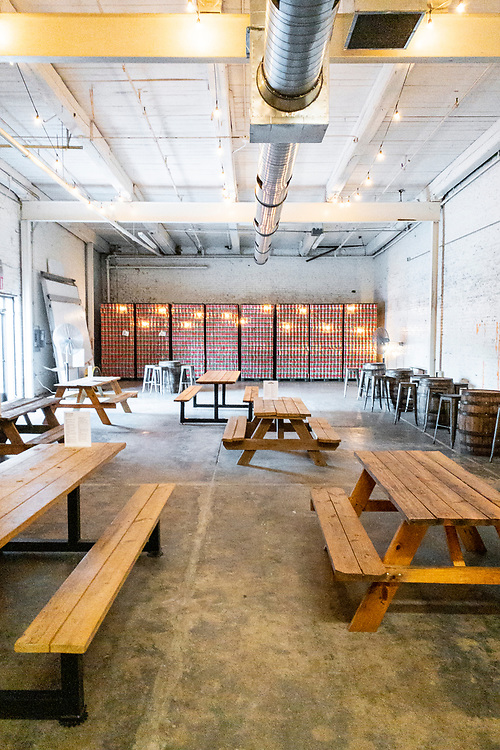 Indoor seating at Deep River Brewing Company in Clayton, North Carolina on Thursday, August 19, 2021. Copyright 2021 Jason Barnette