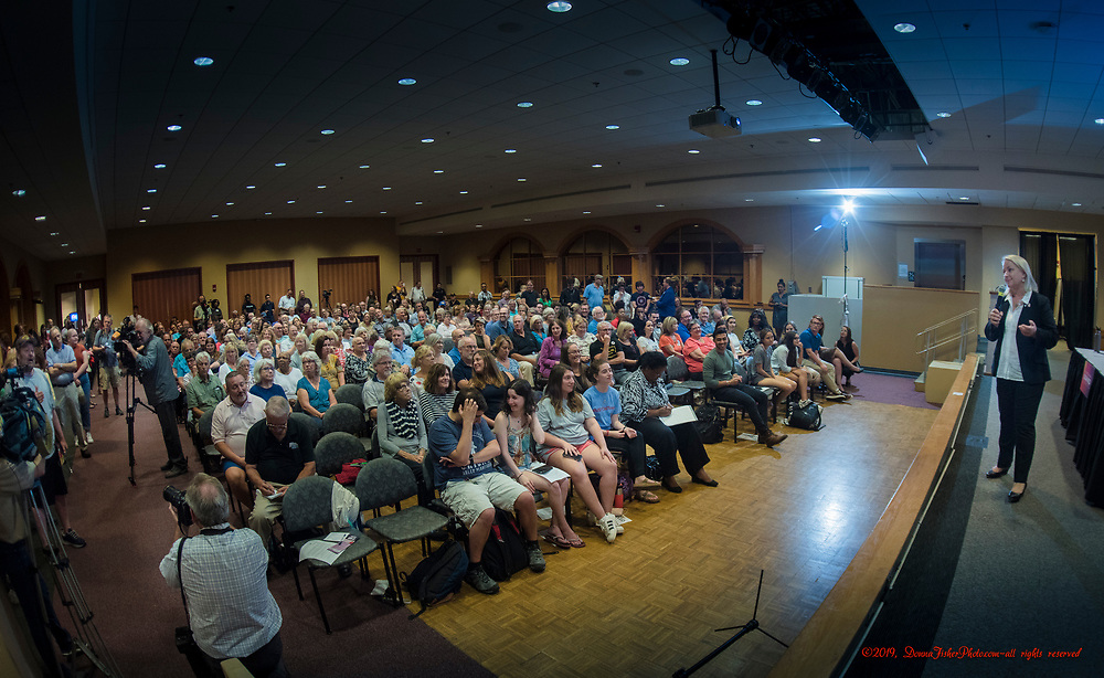 U.S. Rep. Susan Wild, D-Pa 7th, holds a town hall meeting at Seegers Union Hall at Muhlenberg College in Allentown Wednesday, Oct. 2, 2019. About 300 attended.<br /> - Photography by Donna Fisher<br /> - ©2019 - Donna Fisher Photography, LLC                      - donnafisherphoto.com Susan Wild town hall Muhlenberg College