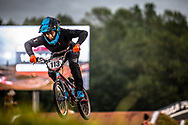 #113 (RESTREPO RESTREPO Maria Camila) COL GW at Round 7 of the 2019 UCI BMX Supercross World Cup in Rock Hill, USA