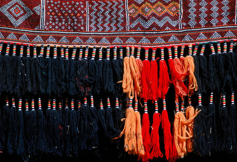 Bedouin tent detail in the desert in Saudi Arabia