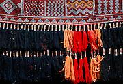 Bedouin tent detail in the desert in Saudi Arabia