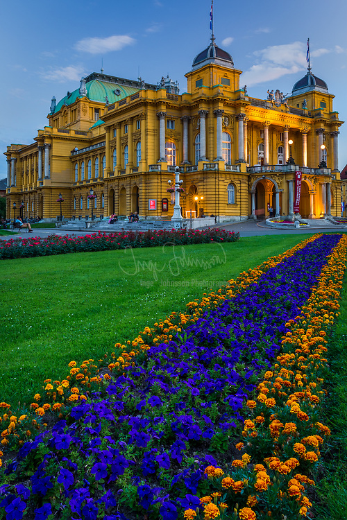 The Croatian National Theatre in Zagreb, commonly referred to as HNK Zagreb, is a theatre, opera and ballet house located in Zagreb. The theatre evolved out of the first city theatre built in 1836 housed in the present-day Old City Hall. The theatre was first established as the Croatian National Theatre in 1860, and in 1861 it gained government support putting it on par with many other European national theatres. In 1870 an opera company was added to the theatre and in 1895 it moved to the new purpose-built building on Marshal Tito Square in Zagreb's Lower Town, where it is based today.