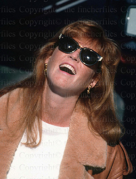 The Duchess of York seen during a visit to Megeve, France in February 1990. Photograph by Jayne Fincher