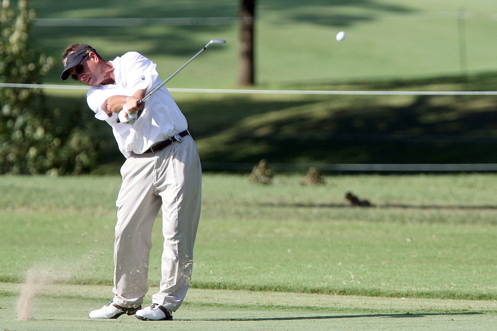 09 August 2007: Robert Gaus makes his second shot on the 9th hole during the first round of the 89th PGA Championship at Southern Hills Country Club in Tulsa, OK.