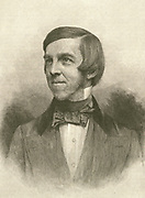 'Oliver Wendell Holmes (1809-1894)  American physician, medical reformer, poet:  One of the New England ''Fireside Poets'' whose style was conventional and popular.  Professor at Harvard Medical School.'