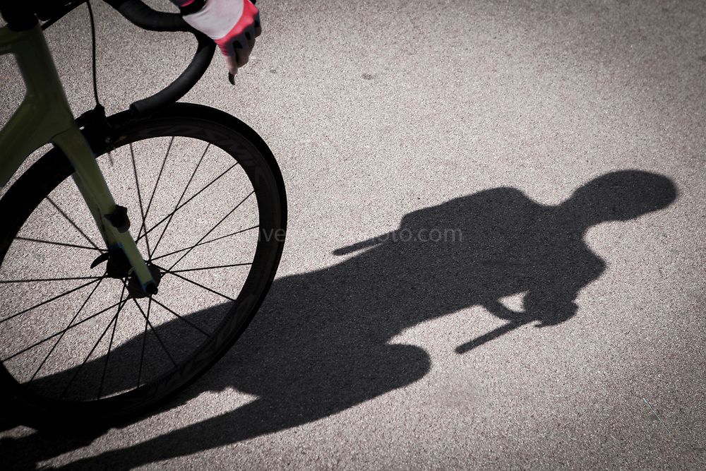 """Stage 3 of the Volta Catalunya 2018 cycle race departs from Sant Cugat del Valles, en route to Camprodon - the stage was shortened from its planned finish at Vallter 2000 due to avalanche risk. This mage can be licensed via Millennium Images. Contact me for more details, or email mail@milim.com For prints, contact me, or click """"add to cart"""" to some standard print options."""