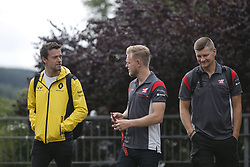 August 24, 2017 - Francorchamps, Belgium - JOLYON PALMER of Great Britain and Renault Sport F1 Team and KEVIN MAGNUSSEN of Denmark and Haas F1 Team are seen during preparations of the 2017 Formula 1 Belgian Grand Prix in Francorchamps, Belgium. (Credit Image: © James Gasperotti via ZUMA Wire)