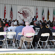 The crowd as seen during the 23rd Annual International Boxing Hall of Fame Induction ceremony at the International Boxing Hall of Fame on Sunday, June 10, 2012 in Canastota, NY. (AP Photo/Alex Menendez)