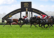 Kozzi Asano (No. 13 Bavella) and Craig Grylls (No. 7 Spring Heat) cross the line in 2nd and 3rd for Race 7, Haunui Farm King's Plate (G3) 1200.<br /> Vodafone Derby Day at Ellerslie Race Course, Auckland on Sunday 7th March 2021 during lockdown level 2.<br /> Copyright photo: Alan Lee / www.photosport.nz