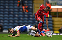 Blackburn Rovers' Joseph Rankin-Costello battles with Reading's Yakou Meite<br /> <br /> Photographer Dave Howarth/CameraSport<br /> <br /> The EFL Sky Bet Championship - Blackburn Rovers v Reading - Tuesday 27th October 2020 - Ewood Park - Blackburn<br /> <br /> World Copyright © 2020 CameraSport. All rights reserved. 43 Linden Ave. Countesthorpe. Leicester. England. LE8 5PG - Tel: +44 (0) 116 277 4147 - admin@camerasport.com - www.camerasport.com