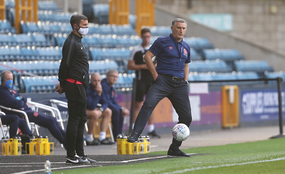 Blackburn Rovers manager Tony Mowbray <br /> <br /> Photographer Rob Newell/CameraSport<br /> <br /> The EFL Sky Bet Championship - Millwall v Blackburn Rovers - Tuesday July 14th 2020 - The Den - London<br /> <br /> World Copyright © 2020 CameraSport. All rights reserved. 43 Linden Ave. Countesthorpe. Leicester. England. LE8 5PG - Tel: +44 (0) 116 277 4147 - admin@camerasport.com - www.camerasport.com