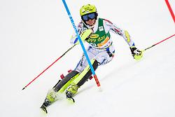 January 7, 2018 - Kranjska Gora, Gorenjska, Slovenia - Mireia Gutierrez of Andora competes on course during the Slalom race at the 54th Golden Fox FIS World Cup in Kranjska Gora, Slovenia on January 7, 2018. (Credit Image: © Rok Rakun/Pacific Press via ZUMA Wire)
