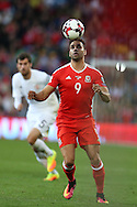 Hal Robson-Kanu of Wales in action. Wales v Georgia , FIFA World Cup qualifier, European group D match at the Cardiff city Stadium in Cardiff on Sunday 9th October 2016. pic by Andrew Orchard, Andrew Orchard sports photography
