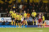 Burton Albion players defend a free kick during the EFL Sky Bet League 1 match between Burton Albion and Bradford City at the Pirelli Stadium, Burton upon Trent, England on 26 January 2019.
