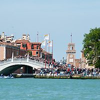 America's Cup  World Series  in Venice second day of races sees Luna Rossa dominate the day with three victories. Aproximately 80,000 people watched the races from the banks and the stands. On the background St Mark's Square and the Palazzo Ducale