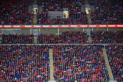 CARDIFF, WALES - Friday, September 6, 2019: Brains branding during the UEFA Euro 2020 Qualifying Group E match between Wales and Azerbaijan at the Cardiff City Stadium. (Pic by Paul Greenwood/Propaganda)