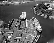 "Ackroyd 20218-1. ""City of Portland. Aerials. July 21, 1977"" ""Swan Island""  (shows dredging)"