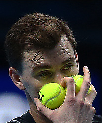 November 17, 2017 - London, England, United Kingdom - Jamie Murray (GBR)in action..during Day six of the Nitto ATP World Tour  Finals played at The O2 Arena, London on November 17 2017  (Credit Image: © Kieran Galvin/NurPhoto via ZUMA Press)