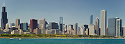The Chicago Skyline from the Adler Planetarium