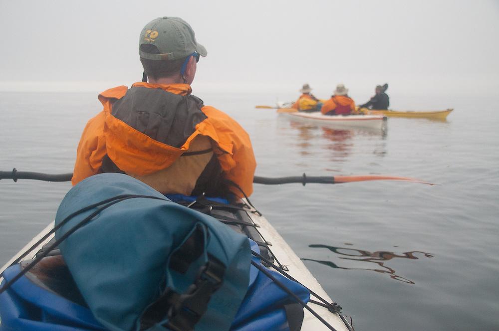 Taylor with Brian and Nick Listen to Jason, Haro Strait, San Juan Islands, Washington