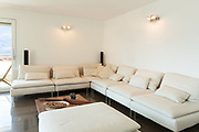 Architecture, beautiful apartment furnished, comfortable living room