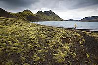 Við suðurenda Langasjós. At the south beach of lake Langisjor.