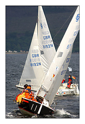 Yachting- The second start of the Bell Lawrie Scottish series 2002 at Inverkip racing to Tarbert Loch Fyne where racing continues over the weekend.<br /><br />Random FFD GBR8192N passes ahead of Firebird GBR8717N in the Sonata class<br /><br />Pics Marc Turner / PFM