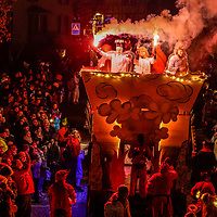 15.02.2020; Haegglingen; <br /> 12. Nachtumzug Hägglingen - Beleuchtete Fasnachtswagen und Guggenmusiken praesentieren sich am Umzug<br /> (Andy Mueller)