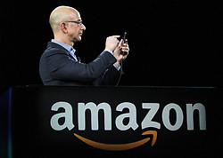 June 18, 2014 - Seattle, WA, USA - Jeff Bezos unveils Amazon's smartphone on Wed., June 18, 2014, in Seattle. (Credit Image: © Ken Lambert/TNS/ZUMAPRESS.com)