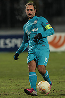 Fotball<br /> Zenit<br /> Foto: imago/Digitalsport<br /> NORWAY ONLY<br /> <br /> 14.03.2013 <br /> Roman Shirokov of FC Zenit St. Petersburg passes the ball during the UEFA Europa League Round of 16 football match FC Zenit St. Petersburg vs FC Basel 1893 at Petrovsky Stadium in St. Petersburg on March 14, 2013