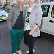 NLD/Amsterdam/20120326 - Presentatie Jeanslijn SOS van Sylvia Geersen bij Raak Amsterdam, Freek Bartels en partner Patrick Martens