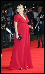 A pregnant Kate Winslet arriving at the premiere of her new film Labor Day, in London,  Monday, 14th October 2013. Picture by Stephen Lock / i-Images