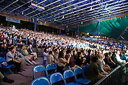 COLUMBIA, MD - September 15th, 2012 - The crowd at Merriweather Post pavilion remained in their seats, rapt with Bon Iver's set. (Photo by Kyle Gustafson/For The Washington Post)