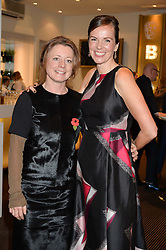 Left to right, actress TIFFANY CLARK and BRITA FERNANDEZ SCHMIDT the UK Premiere of The Uncondemned hosted by Women for Women International at BAFTA, 195 Piccadilly, London on 2nd November 2016.