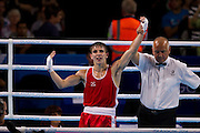 Mcc0055084 . Daily Telegraph<br /> <br /> Northern Ireland's Michael Conlan wins Gold in the Men's Bantam (56kg) Final on Day 10 of the 2014 Commonwealth Games in Glasgow .<br /> <br /> <br /> Glasgow 2 August 2014