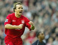 Photo: Aidan Ellis.<br /> Liverpool v West Ham Utd. The Barclays Premiership.<br /> 29/10/2005. <br /> Liverpool's Boudejwin Zenden celebrates his goal